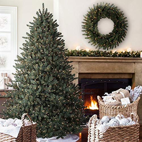Balsam Hill Classic Blue Spruce Artificial Christmas Tree, 7.5 Feet, Clear Lights