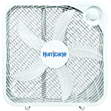 Hurricane Box Fan - 20 Inch | Classic Series | Floor Fan with 3 Energy Efficient Speed Settings, Compact Design, Lightweight - ETL Listed, White