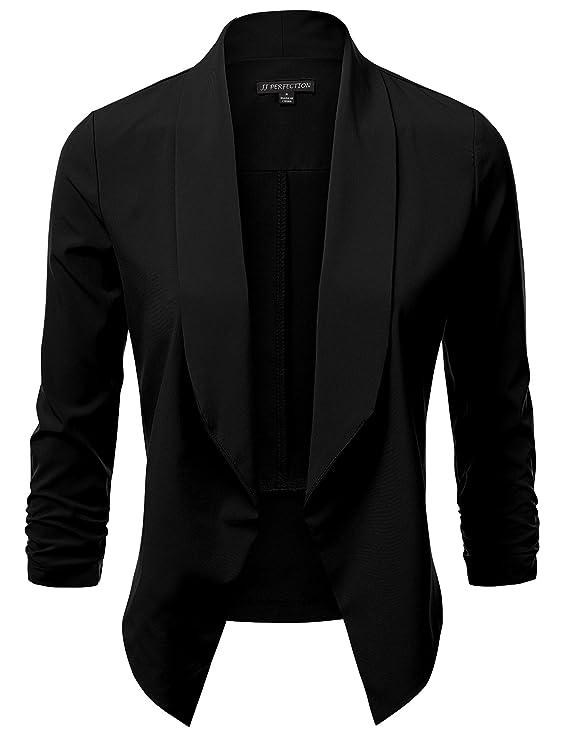Blazer elegante para mujer color negrohttps://amzn.to/2QGWXz0