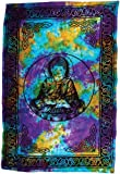 """Buddha 72 x 108"""" tapestry or bedspread"""""""