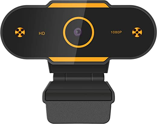 Full HD1080P Webcam with Microphone, Auto Focus Web Camera for Studying Online, Recording, Video Calling, Conference, USB PC Webcam Work with Mac Laptop Desktop YouTube Skype Facebook FaceTime