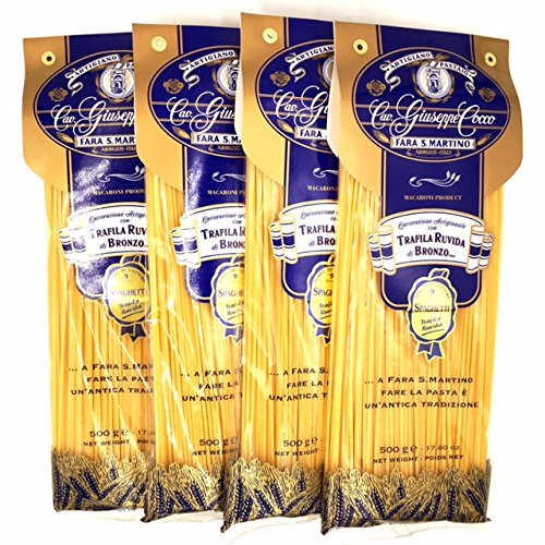 Spaghetti Artisan Pasta Cav. Giuseppe Cocco (4 pack) Hand-made, slow dried (500g) from Italy