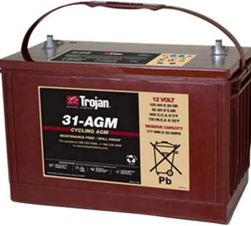 Trojan T31-AGM 12V 100Ah Group 31 Deep Cycle AGM Battery