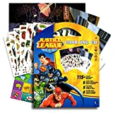 DC Comics Justice League Stickers Coloring Activity Set & Bonus Superhero Pop Art Sticker ~ Featuring Wonder Woman, Superman, Batman, The Flash, Green Lantern, Hawkwoman and many mor