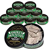 Smokey Mountain Pouches - Wintergreen - 10-Can Box - Nicotine-Free and Tobacco-Free Herbal Snuff - Great Tasting & Refreshing Chewing Tobacco Alternative