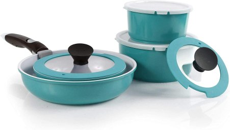 Neoflam Midas 9-piece Ceramic Nonstick Cookware Set