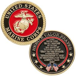 United States Marine Corps Challenge Coin with Prayer