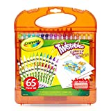 Crayola Twistables Colored Pencils & Paper Set, 65Piece Non-Toxic Art Gift for Adults & Kids 4 & Up, Kit Includes Twist-Up Colored Pencils Classic Colors & Paper in A Portable Travel Case