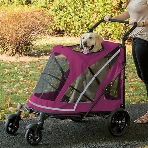 Pet Gear NO-Zip Stroller, Push Button Zipperless Dual Entry, for Single or Multiple Dogs/Cats, Pet Can Easily Walk in/Out, No Need to Lift Pet 7