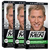 Just For Men Original Formula Men's Hair Color, Sandy Blond (Pack of 3), 01 Sandy Blond