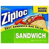 Ziploc Easy Open Tabs Sandwich Bags 125 count (Pack of 6)