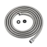 Purelux Shower Head Hose 118 Inches (10 Feet) Extra Long Universal Replacement, Made of Stainless Steel Polished Chrome