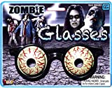 Zombie Bloodshot Eyes Glasses Halloween Costume Accessory