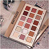 Beauty Glazed New Nude Eyeshadow Palette The 18 Colors Matte Shimmer Glitter Multi-Reflective Shades Ultra Pigmented Makeup Eye Shadow Powder Waterproof Eye Shadow Palette