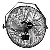 NewAir Wall Mount Fan, 18' High Velocity Industrial Shop Fan with 3 Speed Settings, WindPro18W