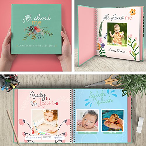 First year baby memory book baby journal modern baby shower gift modern baby shower gift keepsake for new parents to record photos milestones five year scrapbook picture album for boy girl m4hsunfo