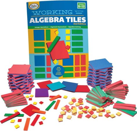 algebra tiles complete set math manipultaive for high school
