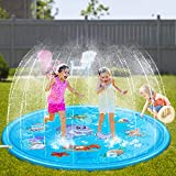 Neteast Outdoor Sprinkler Pad Toys for Kids and Baby, 68'' Outside Sprinkler Play Mat Splash Pad Pool Water Toys for Boys and Girls