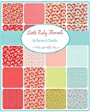 "Little Ruby Flannels Charm Pack By Bonnie & Camille; 42 - 5"" Precut Fabric Quilt Squares"