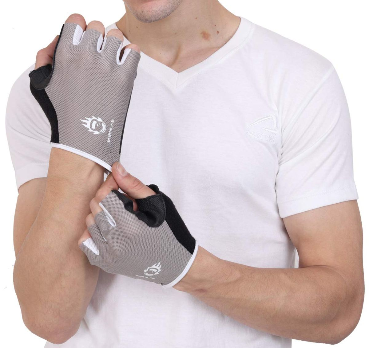 Burnlab Gym Gloves for Men and Women, Full Palm Protection & Grip. Great for Weightlifting, Pull ups and Cross Training