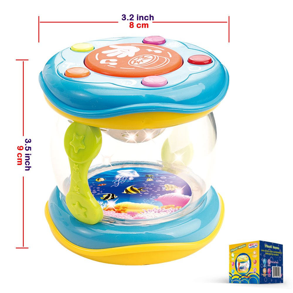 First Drum. Battery Operated Music With Features for Learning and Entertainment for Your Baby and Toddler. Portable Small Size