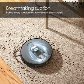 MOOSOO-Robot-Vacuum-Cleaner-LiDAR-Navigation-with-Mapping-Technology-WiFi-Connected-Smart-APP-Control-and-Works-with-Alexa-Auto-Charging-and-1800Pa-Suction-for-Hard-Floor-Carpets-Pet-Hair
