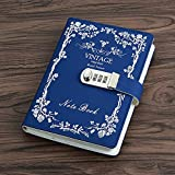 Sealei Combination Locking Journal Diary Password Journal Diary With Lock (Diary With Combination Lock) A5 (8.47 X 5.9 Inch) (Blue)