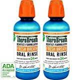TheraBreath 24-Hour Fresh Breath Dentist Formulated Oral Rinse - Icy Mint Flavor, 16 Ounce (Pack of 2)