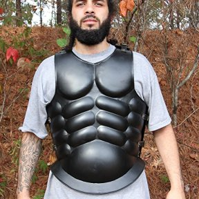 Armory-Replicas-5J1-IN9125BKL20-Medieval-Roman-Greek-Muscle-Body-Armor-Cuirass-Silver-Large