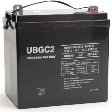 Universal Power Group UBGC2 Sealed AGM Deep Cycle 6V 200AH Battery