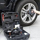 12V DC 1 Ton Electric Hydraulic Floor Jack Set For Car Use (6.1-17.1 inch, Black)