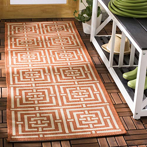 Safavieh Courtyard Collection CY6937-21 Terracotta and Cream Indoor/ Outdoor Area Rug (2'7
