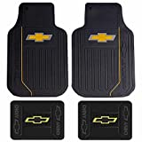 U.A.A. INC. Chevy Chevrolet Gold Bowtie Logo Elite Series Front & Rear Car Truck SUV Seat