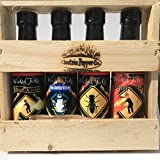 Ghost Pepper and Habanero Hot Sauce 4 Pack Wicked Tickle