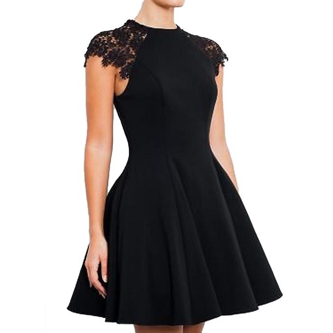 Vestido formal con encaje negrohttps://amzn.to/2Ega03S