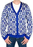Product review for Festified Men's Classy Chanukah Cardigan Sweater (Blue) Ugly Holiday Sweater