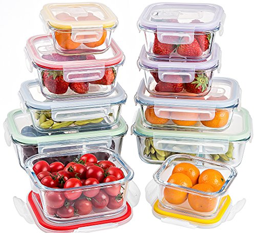 Glass Food Storage Containers With Locking Lids Adorable Jalousie 60 Pieces NEW Borosilicate Glass Food Storage Meal Saver