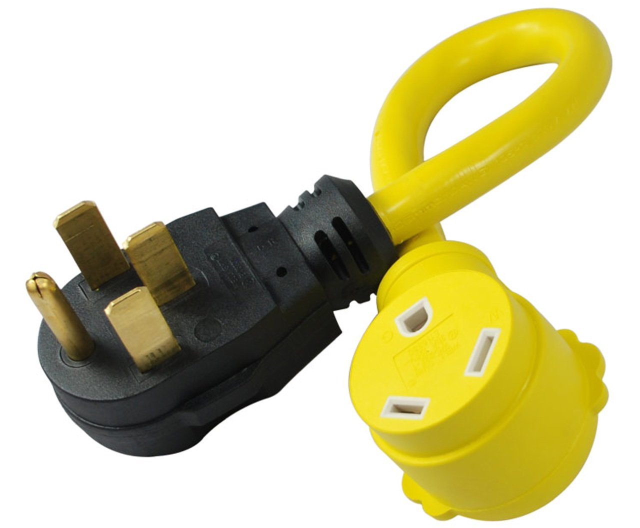 Amazon.com: 50 Amp Male Plug To RV 30 Amp Female Connector Allows a 30A plug to go into a 50A receptacle (useful if a power pedestal only offers a 50A plug in)