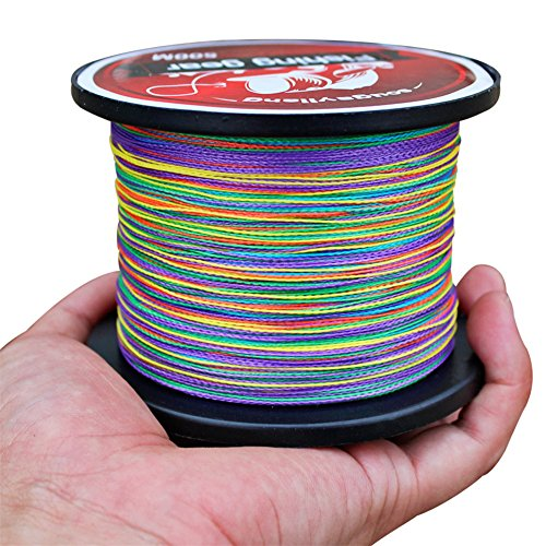 Sougayilang Colorful 546yards 12-72lb 4-strand Braided Fishing Line (546-yard 65-LB test 0.018-Inch Dia (7.0#))