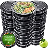 Meal Prep Containers [30 pack] – Reusable Plastic Containers with lids - Disposable Food Containers Meal Prep Bowls - Plastic Food Storage Containers with Lids - Lunch Containers for Adults