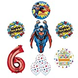 Superman 6th Birthday Party Supplies and Balloon Decorations