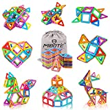 MIBOTE 110 PCS Magnetic Building Blocks Educational STEM Toys Imagination Magnet Tiles Toddler Building Blocks Set for Kids - All of Them are Strong Magnets