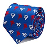 DC Comics Superman Blue Tie, Officially Licensed