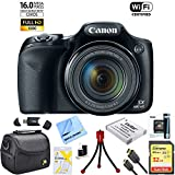 Canon Powershot SX530 HS 16MP Wi-Fi Super-Zoom Digital Camera 50x Optical Zoom Ultimate Bundle Includes Deluxe Camera Bag, 32GB Memory Card, Extra Battery, Tripod, Card Reader, HDMI Cable & More