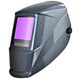 Antra Welding Helmet Auto Darkening AH7-860-0000 Huge Viewing Size 3.86X3.5' Wide Shade Range 4/5-9/9-13 Great for TIG MIG/MAG MMA Plasma, Grinding, Solar-Lithium Dual Power, 6+1 Extra Lens Covers