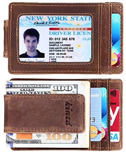 Money Clip, Front Pocket Wallet, Leather...
