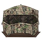 Barronett Ox 5 Ground Hunting Blind, 3 Person Pop Up Portable, Durable Oxhide Fabric, Backwoods Camo