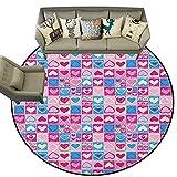 Love,Kitchen Floor mats Doodle Sketchy Hearts in Squares Artistic Childish Romance Girls Kids Design D36 Floor mats for Kids
