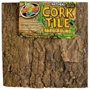 Zoo Med Natural Cork Tile Background, 18 x 18-Inches 14