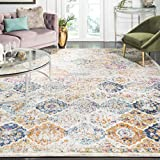 Safavieh Madison Collection MAD611B Cream and Multicolored Bohemian Chic Distressed Area Rug (5'1' x 7'6')
